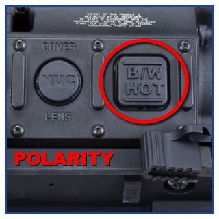 thermal polarity control choose black hot or white hot imaging