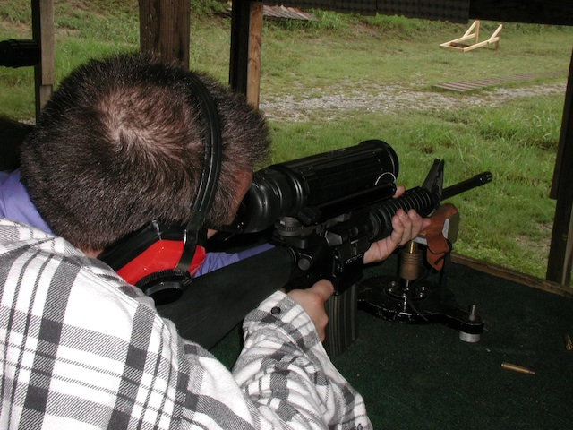 the elcan specter ir at the shooting range