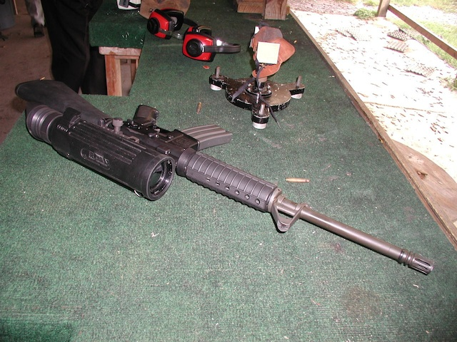 The specter thermal scope on an M4 rifle