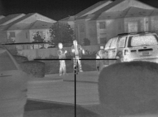 Clip On thermal FLIR T60 suspect detection with Trijicon ACOG