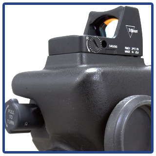Trijicon RMR mount on the t60 scope