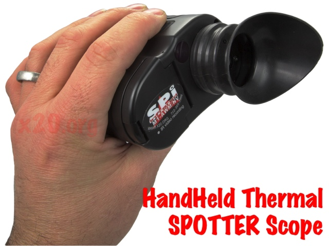 Ultra compact handhled thermal scope