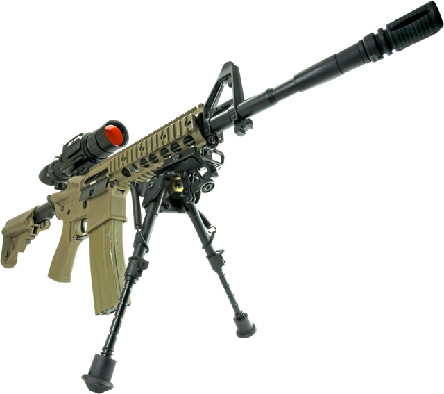 Thermal weapon sight stand alone thermal scope on M4 rifle