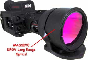 Closeup of the XP 3-5 thermal imager long range lens