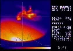 Screenshot of the 470 thermal imager screen
