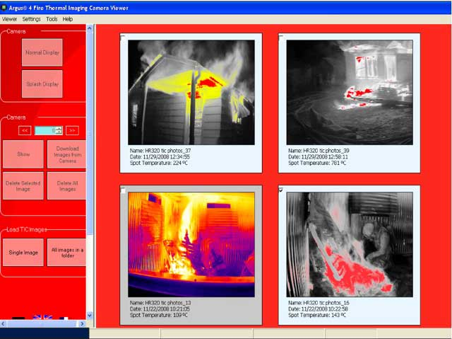 A screenshot of the Argus Thermal Camera software