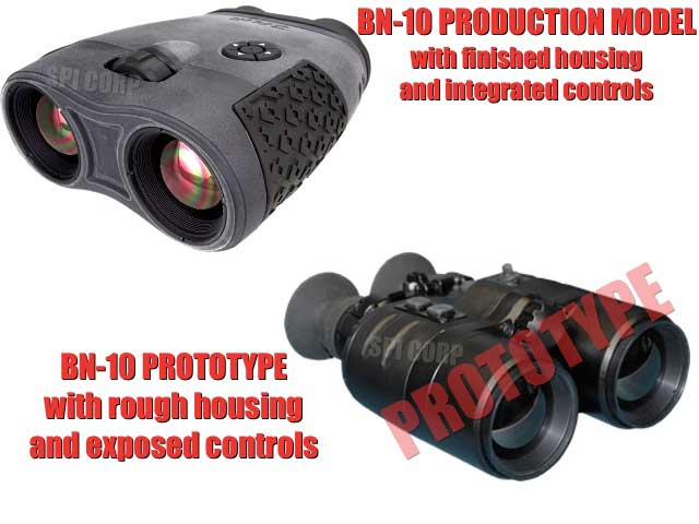The comparison between the actual Bn-10 and the prototype BN-10 thermal imaging binoculars