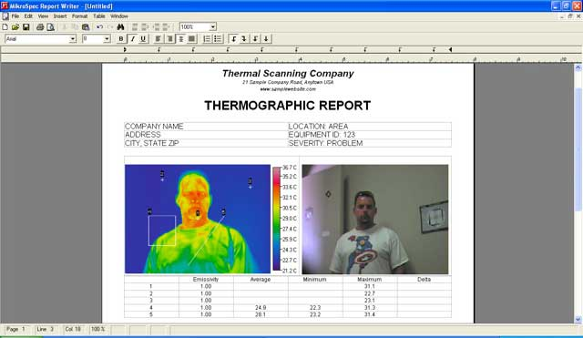 Thermal analysis report writing software.
