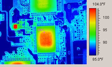 Thermal scan of PCB