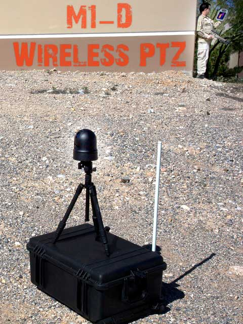 M1-D wireless ptz thermal drone camera in a combat zone