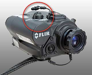 The on/off laser of the M-18 HD IR scope