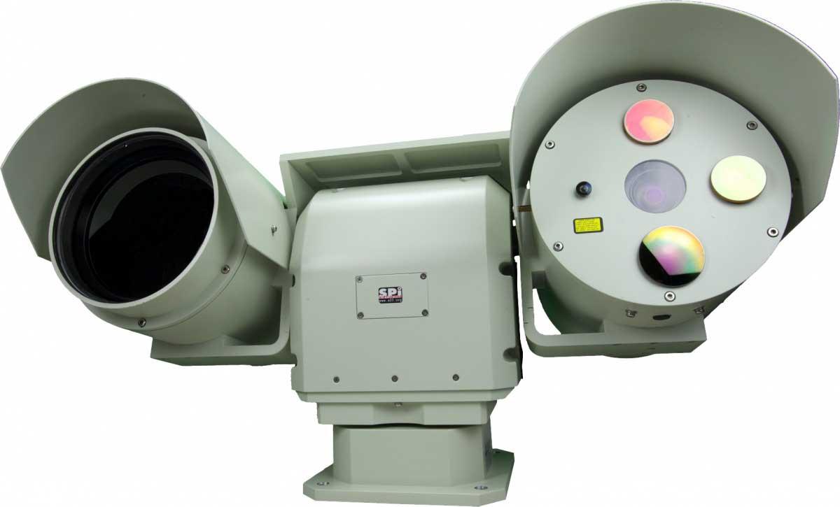 M6 Ultra Long range thermal FLIR engine core installed into multi sensor M7 PTZ EOIR system