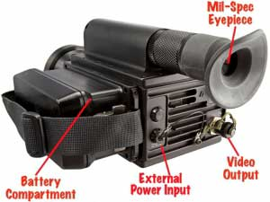 Features of the MilCam MV 3-5 IR thermal camera