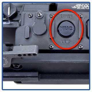 The correction button on the T-60 FLIR thermal scope