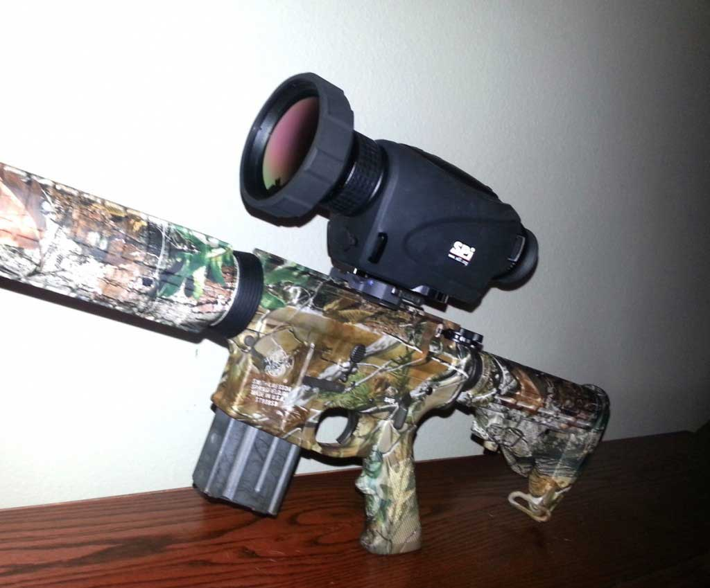 The PAS-15 long range thermal scope mounted on a rifle.
