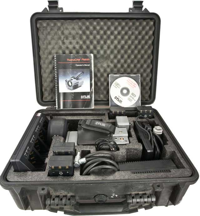 The Thermacam 695 infrared camera kit comes with an LCD screen