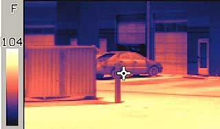 Iron thermal image taken from an X-250 XP