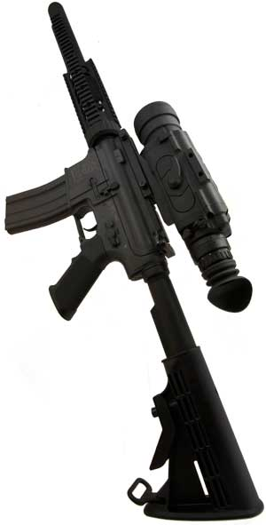 An X26 tactical thermal scope mounted on a weapon