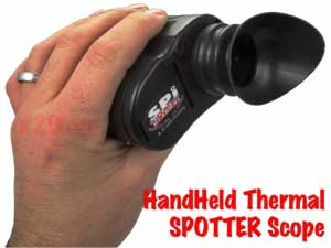 The SPOTTER is a handheld mini thermal surveillance camera