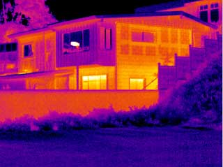 A thermal image of a home from an SC 1000 infrared camera