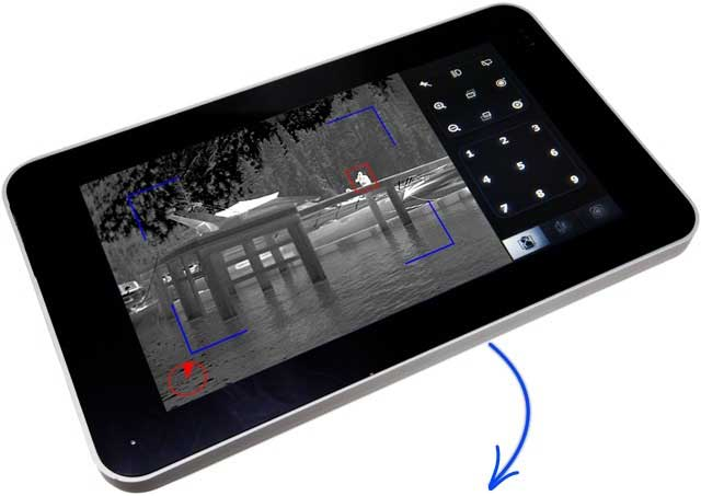 The new M1-D Tablet PTZ control interface is here. Touch screen control of your M1-D thermal PTZ system!