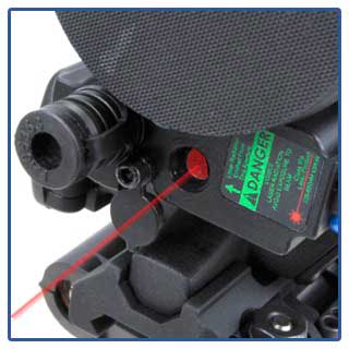 Laser pointer detail on the T-60 thermal rifle scope