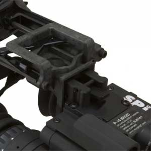 A view of the mount on the P 15 night vision goggles