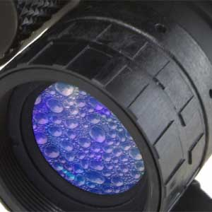 Closeup of the P15 night vision waterproof lenses