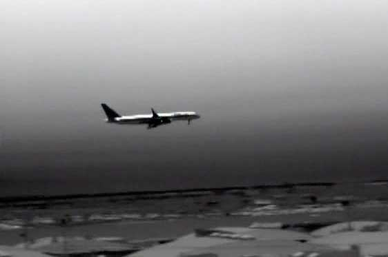 An airplane through the M1-D thermal camera