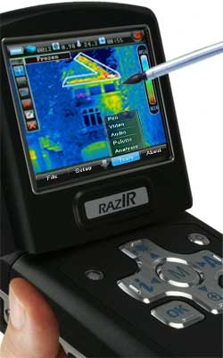 RAZ-IR NANO HT infrared camera touch screen