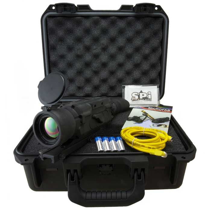An image of the complete X26-XLR thermal imaging scope kit