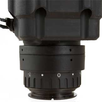 A closeup of X26-XLR thermal scope diopter