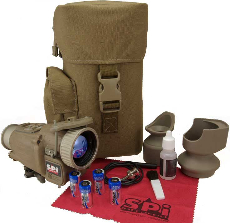 An image of the complete X27 thermal rifle scope kit