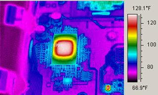 PCB Thermal infrared analysis image 128