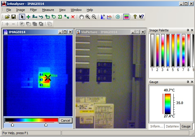 Electrical panel audit with RAZ IR pro infrared thermography camera