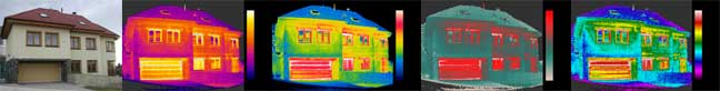 infrared image of houses
