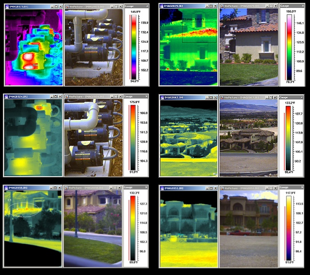 RAZ IR Pro infrared camera sample thermal images