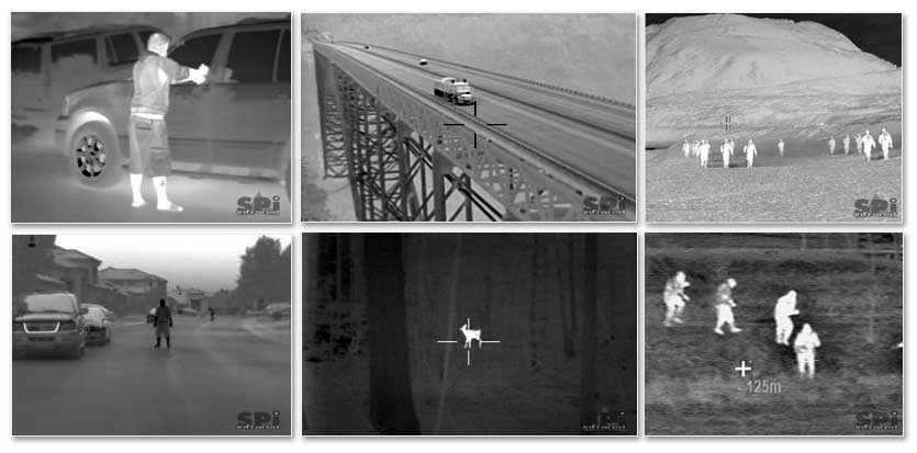 FLIR black hot & white hot images from the Thermal Imaging Infrared Security Camera