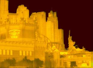 Thermal images Las Vegas - South End of the Las Vegas Strip
