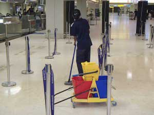 Handheld infrared cameras are being implemented at airports to screen for Ebola. La Guardia workers recently held a strike over the heath concern.