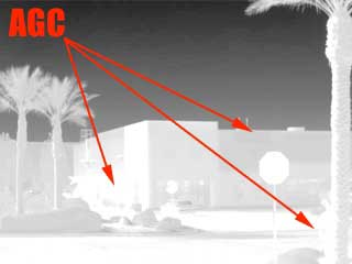 Auto Gain Control of Long Range Thermal Surveillance Scope