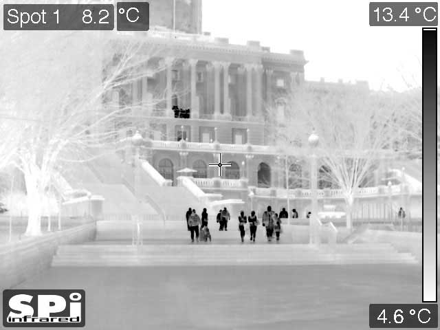 M1D UAV thermal surveillance of people in Washington, DC