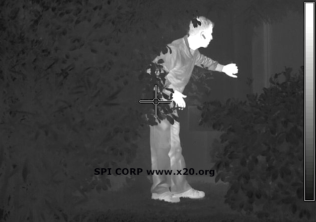 Long Range thermal FLIR Image of an Intruder
