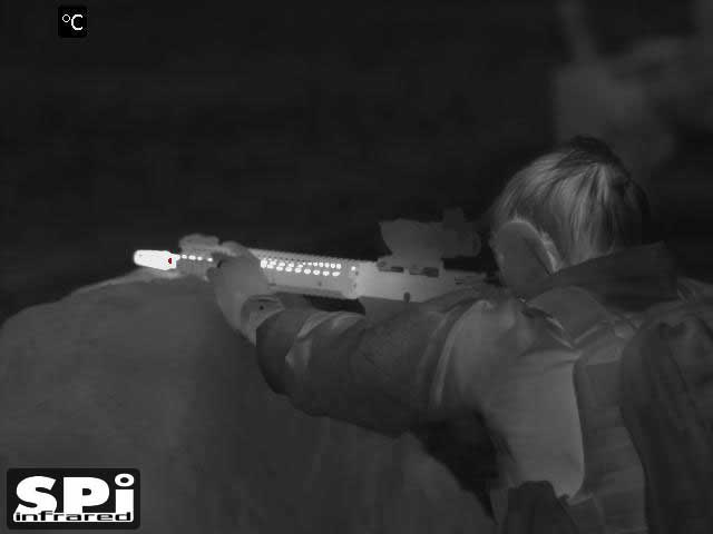Thermal image of a shooter