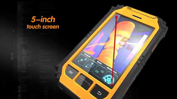 Therma-Pad Tablet FLIR android mobile thermal camera has a 5 inch touchscreen display