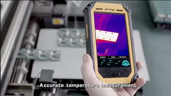 Therma-Pad Tablet FLIR android mobile thermal camera provides accurate temperature measurement