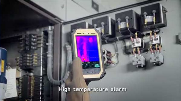 Therma-Pad Tablet FLIR android mobile thermal camera high temperature alarm