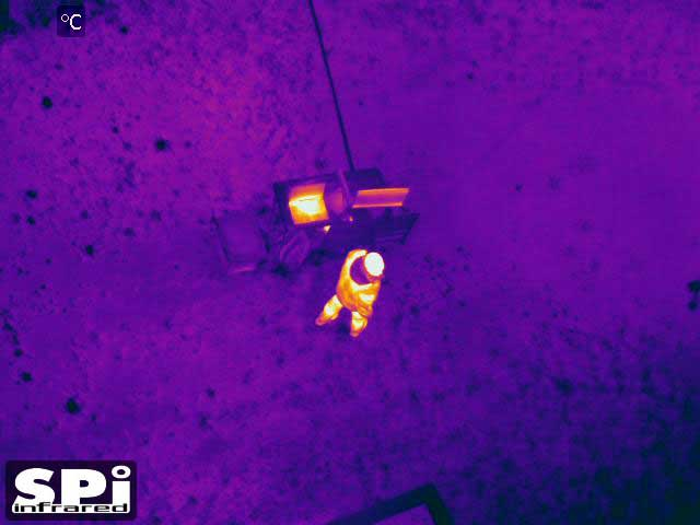 Airborne FLIR thermal images of human detection persistent surveillance from UAV/ UAS, Drone