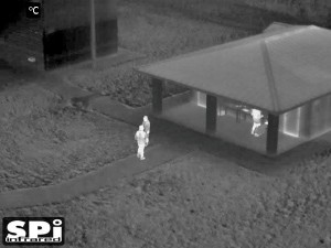 thermal footage from drone gimbal