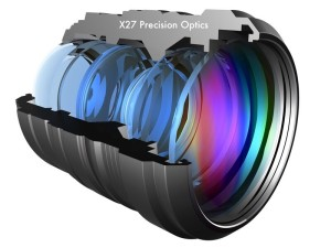 IR corrected lens optics for color low light night vision camera